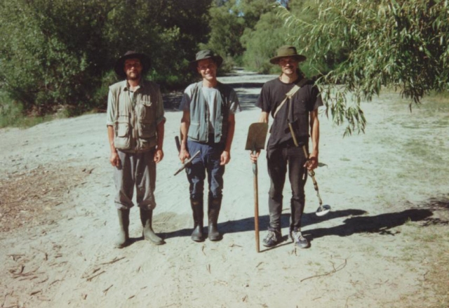 The Swiss Brothers and Friend Prospecting in New Zeland on the Arrow River